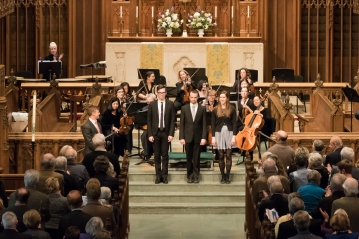 After Eastman Organist Concerto Concert with Philadelphia Chamber Orchestra; April 2015