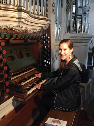 At the Trost organ in Waltershausen, Germany