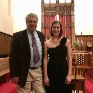 with Patrick Murphy, organ builder, after 5 October 2018 dedication