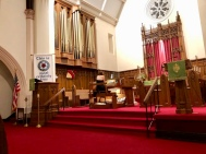 During the organ dedication, 5 October 2018